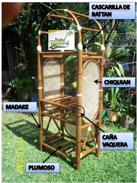 Especies de bamb para muebles muebles y artesanias de bamb - Muebles en bambu ...