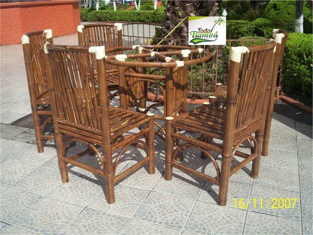 Comedor olimpia muebles y artesanias de bamb - Muebles de cana de bambu ...