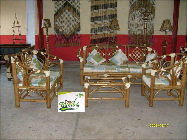 Sala europa muebles y artesanias de bamb - Muebles en bambu ...
