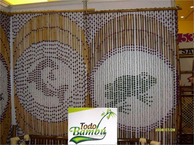 Pin publicaciones para artesanias adornos tortas en arte y - Cortina de bambu ...