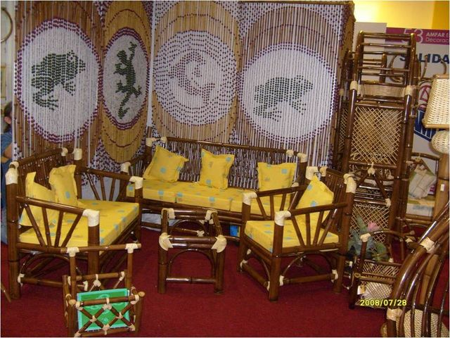 Sala pavorreal muebles y artesanias de bamb - Sillones de bambu ...