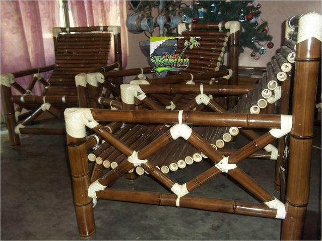Descansos muebles y artesanias de bamb for Muebles de bambu y mimbre