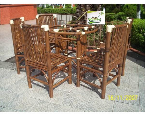 Comedor muebles y artesanias de bamb - Muebles en bambu ...